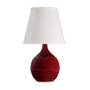 Scatchard Copper Red 13.5-Inch One-Light Table Lamp