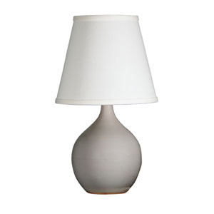 Scatchard Gray Gloss 13.5-Inch One-Light Table Lamp