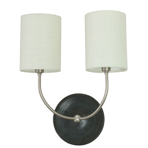Scatchard Black Matte 14.5-Inch Two-Light Wall Sconce