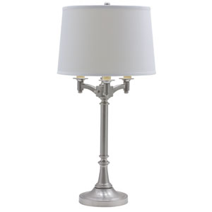 Lancaster Satin Nickel Four-Light Table Lamp