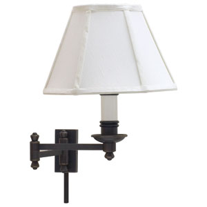 Library Oil Rubbed Bronze One-Light Swing Arm Lamp
