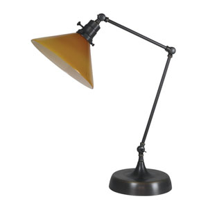 Otis Oil Rubbed Bronze 26-Inch One-Light Table Lamp with Amber Shade