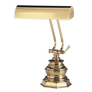 10-Inch Polished Brass Piano/Desk Lamp