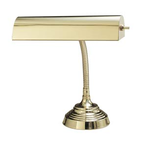 10-Inch Polished Brass Goose Neck Lamp