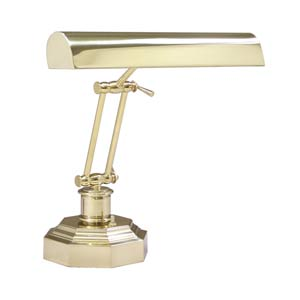 14-Inch Polished Brass Piano/Desk Lamp