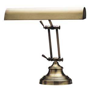 14-Inch Antique Brass Piano/Desk Lamp