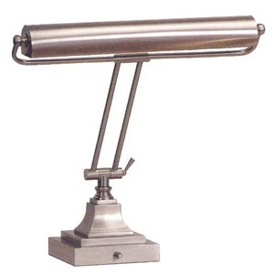 15-Inch Shade Series Satin Nickel Piano/Desk Lamp
