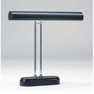 Chrome and Black Digital Piano Lamp