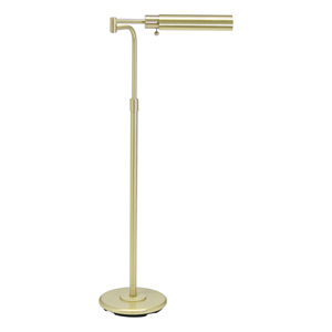Satin Brass Adjustable Pharmacy Floor Lamp