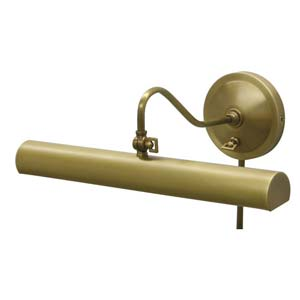 Library Brass Plug-In Picture Light