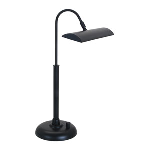 Zenith Black 12-Inch LED Piano or Desk Lamp