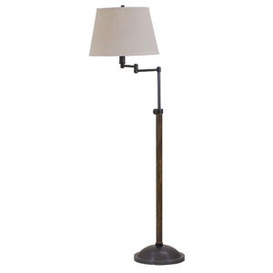 Richmond Satin Nickel One-Light Floor Lamp