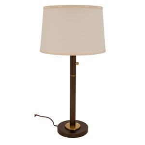 Rupert Chestnut Bronze with Weathered Brass Accents Three-Light Table Lamp