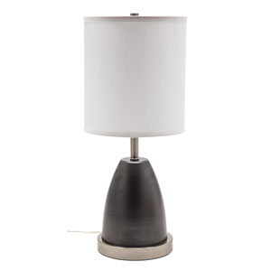 Rupert Granite with Satin Nickel Accents One-Light Table Lamp