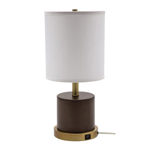 Rupert Chestnut Bronze with Weathered Brass Accents One-Light Table Lamp