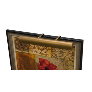 Classic Traditional Weathered Brass Three-Light  Picture Light