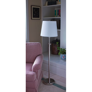 Townhouse Polished Nickel One-Light Floor Lamp