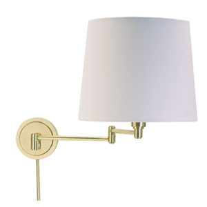 Townhouse Raw Brass One-Light Swing Arm Lamp