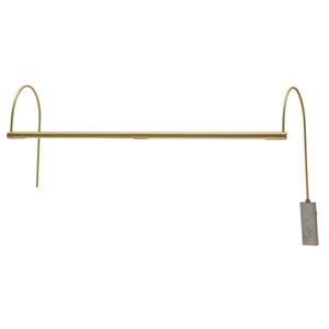 Ultra Slim-line Satin Brass 28-Inch LED Picture Light Line Voltage