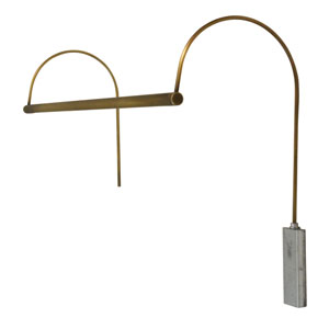 Ultra Slim-line Satin Brass 41-Inch LED Line Voltage Picture Light