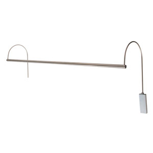 Ultra Slim-line Satin Nickel 41-Inch LED Picture Light Line Voltage