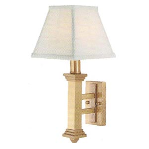 Satin Brass Shaded Wall Sconce