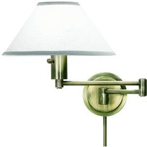 Antique Brass Plug-In Wall Swing