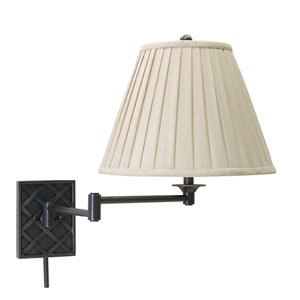 Decorative Oil Rubbed Bronze One-Light Swing Arm Lamp