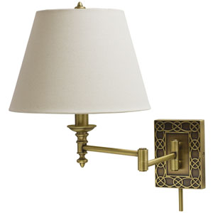 Decorative Wall Swing  Antique Brass One-Light  Wall Sconce