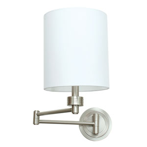 Decorative Wall Swing  Satin Nickel One-Light  Wall Sconce