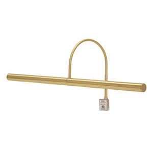 Slim-line Satin Brass 24-Inch Four-Light Picture Light