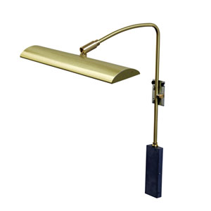 Zenith Satin Brass 12-Inch LED Picture Light Line Voltage