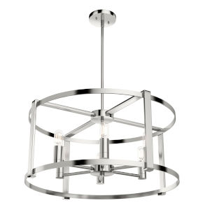 Astwood Polished Nickel 13-Inch Six-Light Chandelier