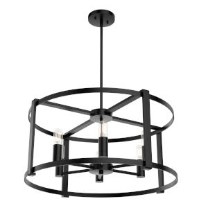 Astwood Black 13-Inch Six-Light Chandelier
