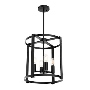 Astwood Black 18-Inch Four-Light Lantern Chandelier