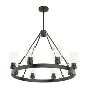 Hartland Oil Rubbed Bronze 23-Inch Eight-Light Chandelier