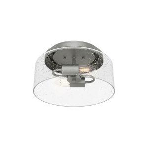 Hartland Silver 12-Inch Two-Light Flush Mount