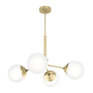 Hepburn Polished Brass 19-Inch Four-Light Chandelier