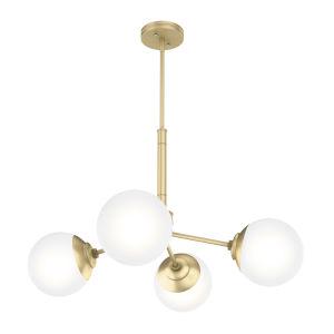 Hepburn Polished Brass 19-Inch Four-Light Chandelier
