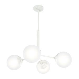 Hepburn White 19-Inch Four-Light Chandelier