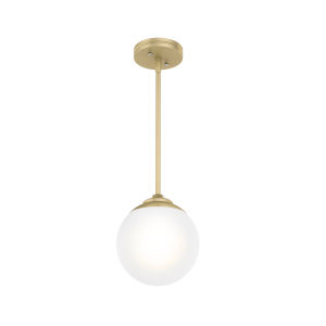 Hepburn Polished Brass Nine-Inch One-Light Mini Pendant
