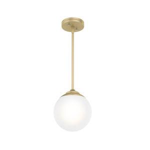 Hepburn Polished Brass Nine-Inch One-Light Mini Pendant
