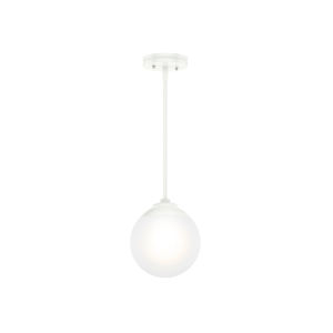 Hepburn White Nine-Inch One-Light Mini Pendant