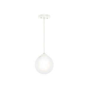 Hepburn White Nine-Inch One-Light Mini Pendant
