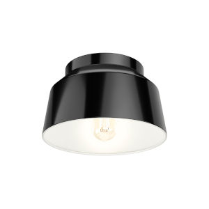Cranbrook Black 12-Inch One-Light Flush Mount