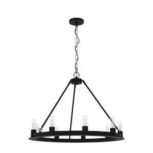 Saddlewood Natural Iron Nine-Light Chandelier