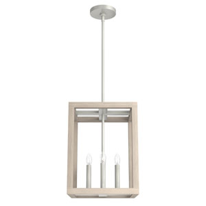 Squire Manor Brushed Nickel 12-Inch Four-Light Pendant