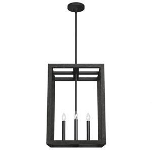 Squire Manor Matte Black 15-Inch Four-Light Pendant