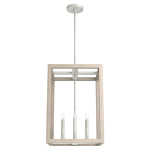 Squire Manor Brushed Nickel 15-Inch Four-Light Pendant