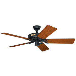 Original Black and Walnut 52-Inch Adjustable Ceiling Fan